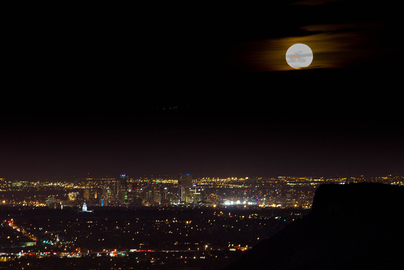 Super Moon over Denver